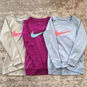 3 Little Girls Nike Dri-Fit Shirts - Size 4-5 yrs